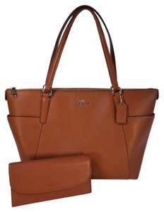 Coach Ava 2 Checkbook Wallet Tote in Saddle Brown