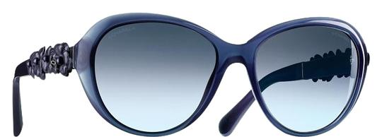Preload https://img-static.tradesy.com/item/19088233/chanel-blue-5316-oval-camellia-cc-logo-cat-eye-butterfly-leather-flower-sunglasses-0-1-540-540.jpg