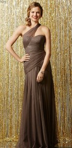 Wtoo Pewter Bobbinet Netting Tulle 504 Bridesmaid/Mob Dress Size 12 (L)