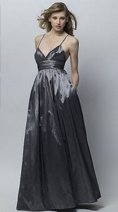 Wtoo Charcoal With Black Belt Size 8 226 Dress