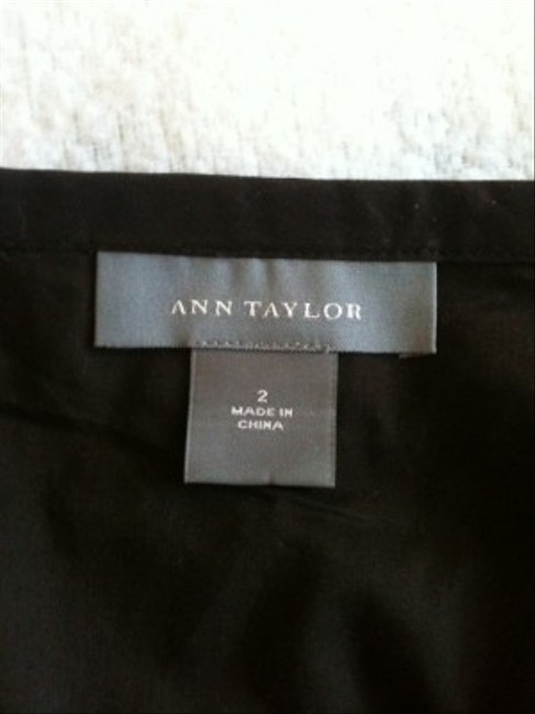 Ann Taylor Skirt Brown with off white stitching