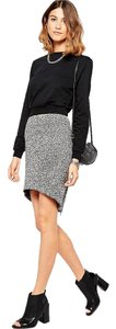 Finders Keepers Exposed Zipper Knitted Pencil Skirt Gray