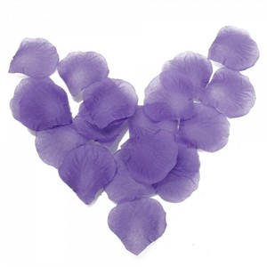 Purple 600pcs. Silk Petal Aisle Runner Flower Girl Basket
