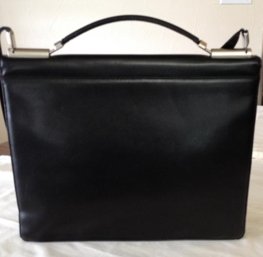 Mandarina Duck Briefcase Leather Silver Hardware Laptop Bag