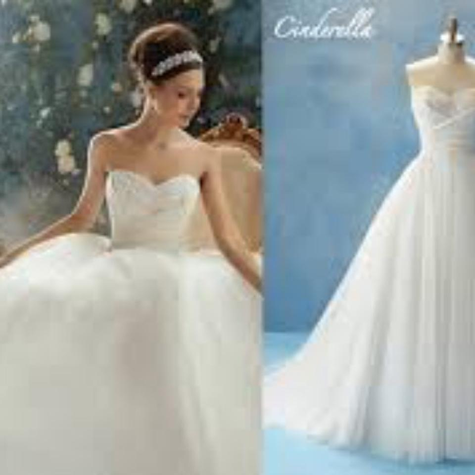 Alfred Angelo White Tulle Formal Wedding Dress Size 14 (L) - Tradesy