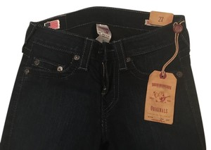 True Religion Highwaisted Darkwash Skinny Jeans-Dark Rinse