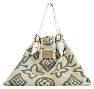 Louis Vuitton Tote in Green, White