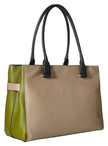 Coach Swagger Color Block Satchel in Lime/Stone