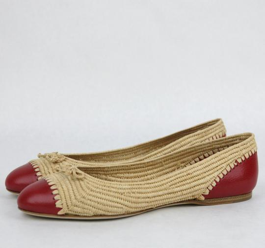 Bottega Veneta Straw Leather 338295 Multi-Color Flats