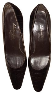 Salvatore Ferragamo Ferragamo Heels Leather Crocodile Brown Pumps
