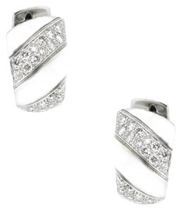 Other 18K White Gold 1.50Ct Diamond Hoop Earrings 17.4 Grams