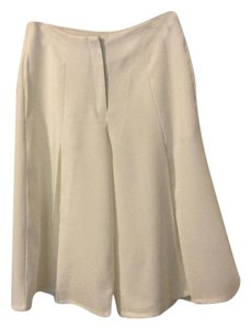 Choies High Waist Front Fly Zipper Elegant Skirt Cream