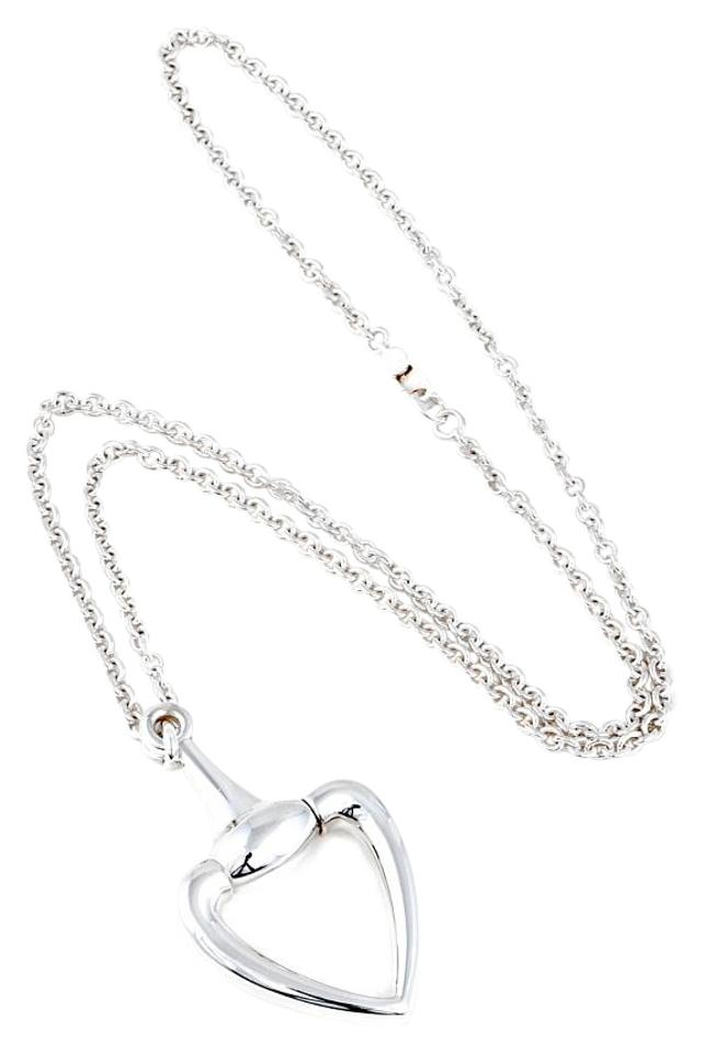 ee42586c5 Gucci Gucci Heart Horsebit Necklace Image 0 ...