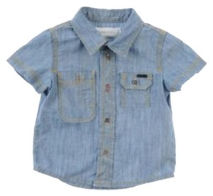 Diesel Button Down Shirt Blue