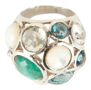 Ippolita Blue And Cream Multi Stone Constellation Cocktail Ring