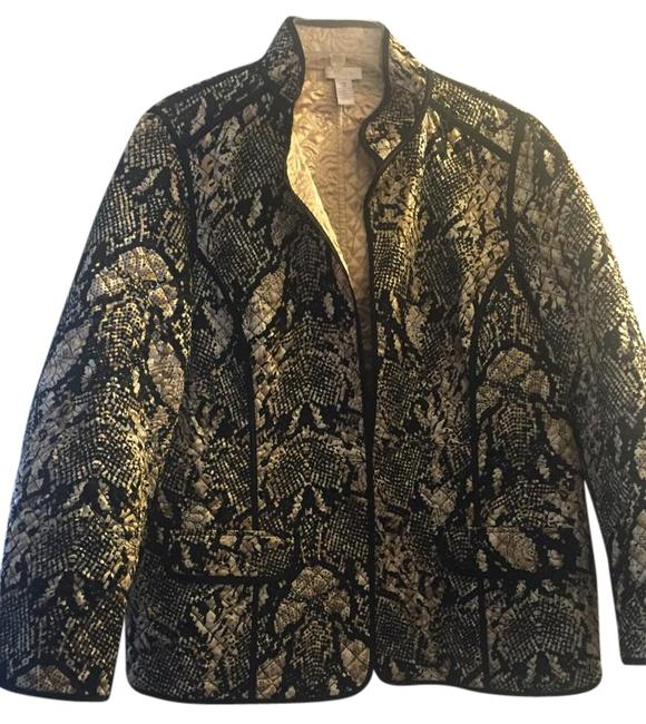 Item - Gold and Black None Jacket Size 26 (Plus 3x)