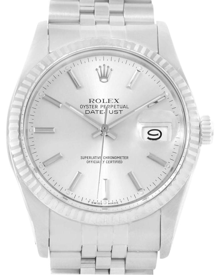 rolex datejust vintage mens steel 18k white gold watch 16014 rolex rolex datejust vintage mens steel 18k white gold watch 16014