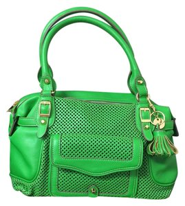 Jessica Simpson Perforated Satchel in Green