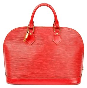 Louis Vuitton Epi Canvas Tote in Red