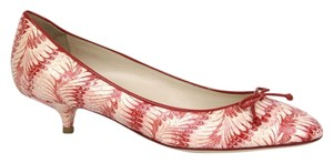 Bottega Veneta Leather Python 337834 Multi-Color Pumps