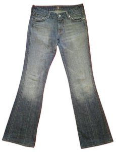 7 For All Mankind A Pocket Flare Leg Jeans-Medium Wash