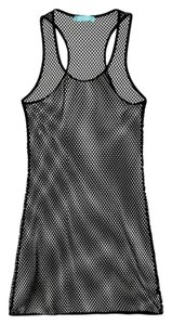 Melissa Odabash Black Mesh Racerback Cover Up