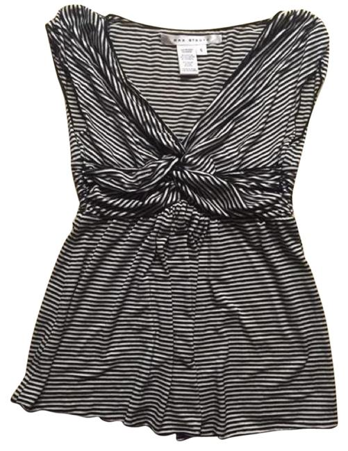 Preload https://img-static.tradesy.com/item/19091470/max-studio-black-white-striped-with-cinched-wais-blouse-size-4-s-0-2-650-650.jpg