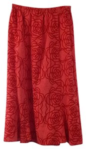 FLAX Skirt Pink and red
