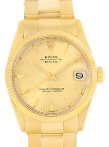 Rolex Rolex Date Midsize 14k Yellow Gold Vintage Unisex Watch 6627