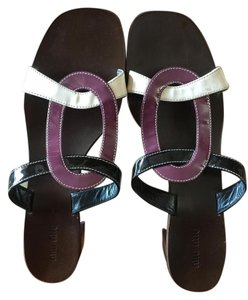 Miu Miu Patent Leather Black, Purple, White Mules