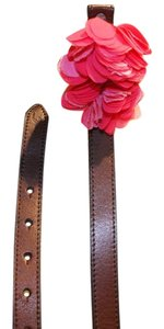 Hollister Hollister pink flower leather belt