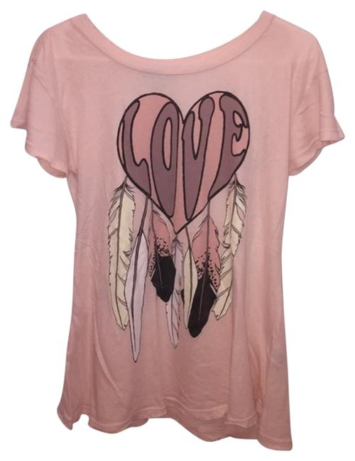 Preload https://img-static.tradesy.com/item/19091911/wildfox-pink-distressed-dreamcatcher-love-tee-shirt-size-2-xs-0-1-650-650.jpg