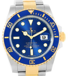 Rolex Rolex Submariner Steel 18K Yellow Gold Automatic Mens Watch 116613