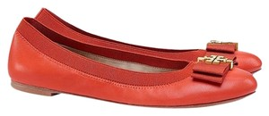 Tory Burch Ballet Flat Leather New 6.5 Poppy Red Flats