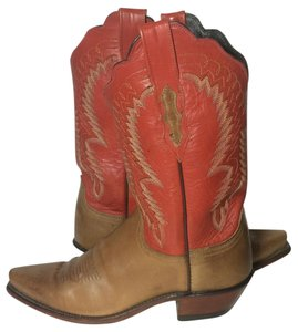 Lucchese 8 Cowgirl 8 Western 8 Size 8 Red & Brown Boots