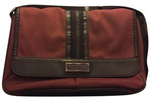 Burberry Back To School Classy Easy To Clean Burgundy Messenger Bag
