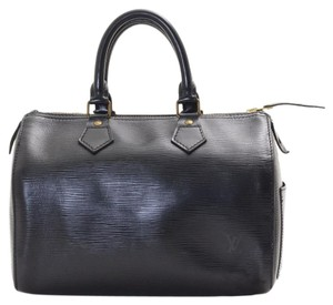 Louis Vuitton Epi Speedy Lv Satchel in Black