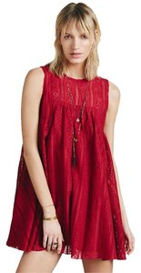 Free People short dress Red Tu Es La Mini on Tradesy