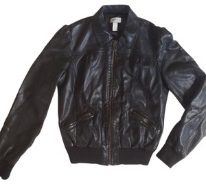 Ann Taylor LOFT Vegan Leather Motorcycle Jacket