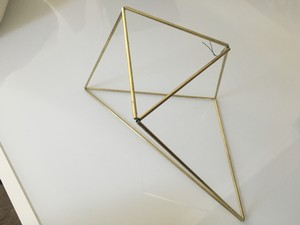 Geometric Brass Pieces Centerpieces