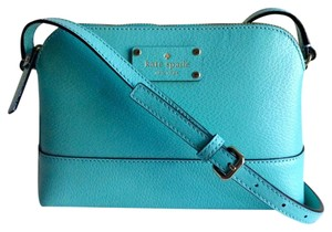 Kate Spade Hanna Leather Aquablue Cross Body Bag