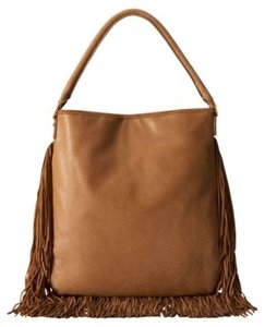 Tory Burch Flapper Fringed Leather Handbag Hobo Bag