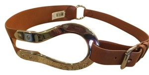Ralph Lauren Black Label Ralph Lauren Italian Vachetta Leather belt with silver loop buckle