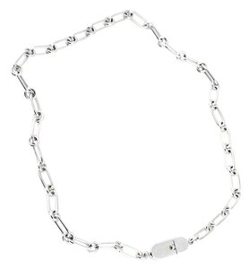 Gucci Gucci Silver Oval Link Necklace