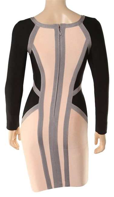 Preload https://img-static.tradesy.com/item/19093903/macy-s-beige-black-contrast-bodycon-mini-short-casual-dress-size-4-s-0-1-650-650.jpg