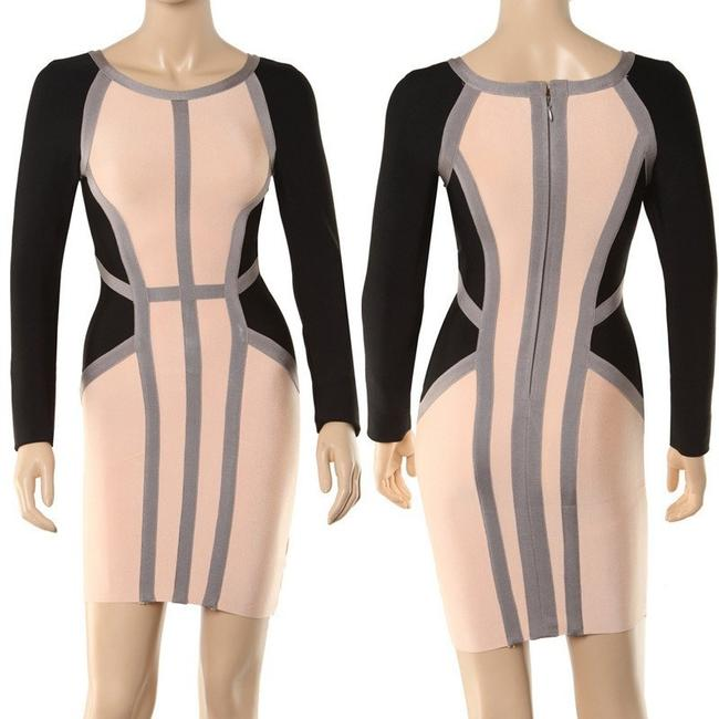 Macy's short dress Beige black New Sexy Bodycon Designer on Tradesy