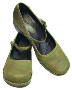 Ecco Mary Jane green Mules
