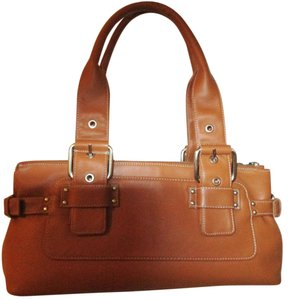 Perlina Leather Satchel in Brandy
