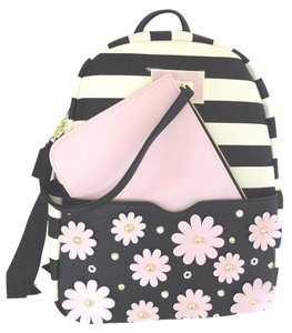 Betsey Johnson Black/bone Backpack