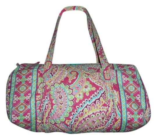 Preload https://img-static.tradesy.com/item/19094053/vera-bradley-capri-melon-pink-cotton-weekendtravel-bag-0-1-540-540.jpg